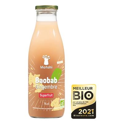 Baobab Gingembre MATAHI SUPERFRUIT 75cl