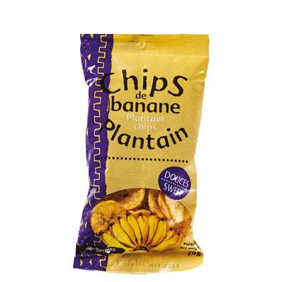 Chips de banane plantain RACINES douces 70 g