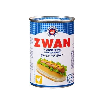 Saucisses hot dog ZWAN Poulet 400 g halal