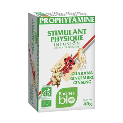 Infusion PROPHYTAMINE Stimulant physique RACINES BIO 20 sachets x 2 g