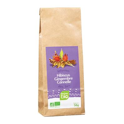 Infusion des Iles RACINES BIO Cannelle Hibiscus Gingembre 50 g