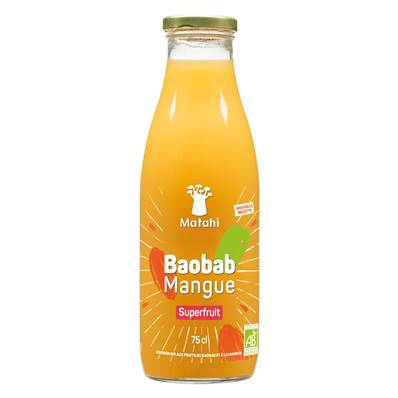 Boisson bio MATAHI SUPERFRUIT Baobab Mangue 75 cl