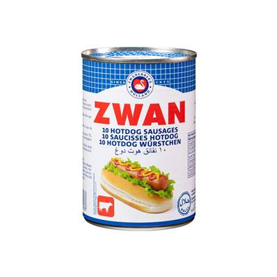 Saucisses hot dog ZWAN Poulet Boeuf 400 g
